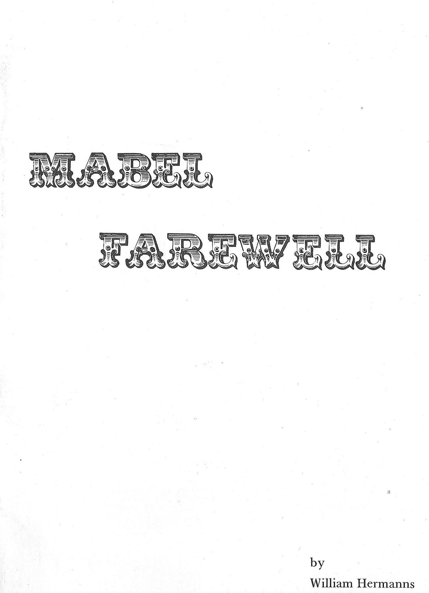 Mabel Farewell cover