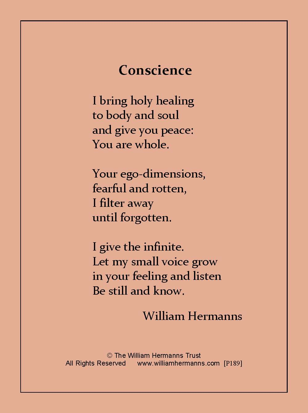 Conscience by Willilam Hermanns