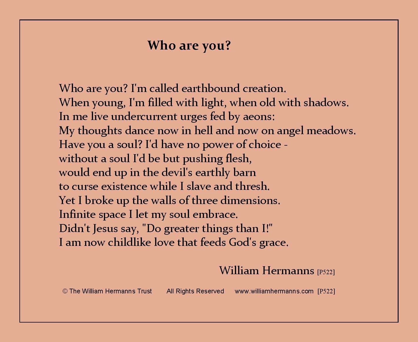 Who are you?  by William Hermanns